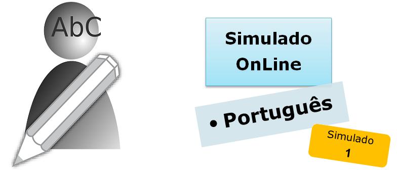 Simulado online com gabarito de Português 01 enem vestibulares