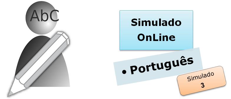 Simulado online com gabarito de Português 03 enem vestibular