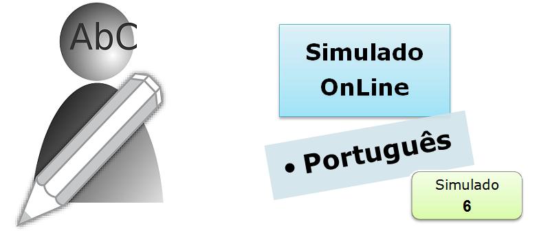 Simulado online com gabarito de Português 06 enem vestibulares