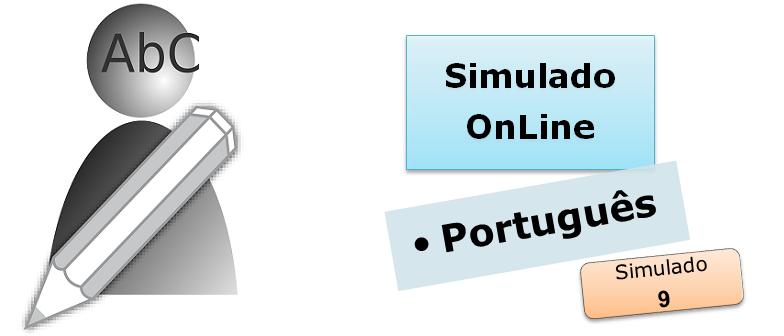 Simulado online com gabarito de Português 09 vestibulares enem