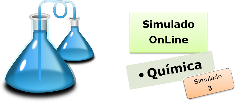 Simulado online com gabarito de Química 03 enem vestibular