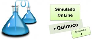 Simulado online com gabarito de Química 04 enem vestibulares