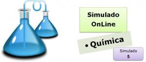 Simulado online com gabarito de Química 05 enem vestibulares