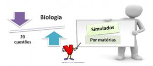 Simulado por matéria de Biologia 3 20 questões e gabarito. Vestibular