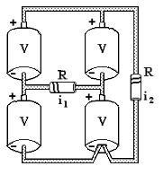 Simulado por matéria de física com 20 questões e gabarito. Circuito Resistores. Vestibulares