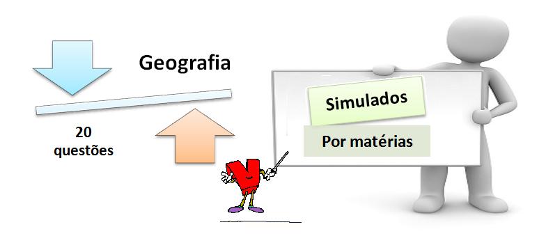 simulado matéria geografia 20 questões gabarito - Simulado por matéria