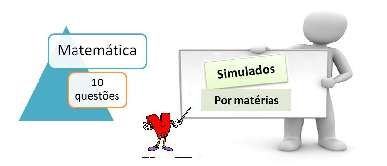 Simulado por matéria matemática 10 questões simulado com gabarito desafie conhecimentos