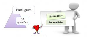 Simulado por matéria de Português com gabarito e 10 questões. Desafio Vestibular1, vestibular