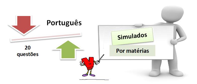 simulado por matéria de português com 20 questões e gabarito. Vestibulares