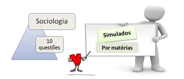 Simulado por matéria de sociologia com gabarito e 9 questões. Desafio Vestibular1.