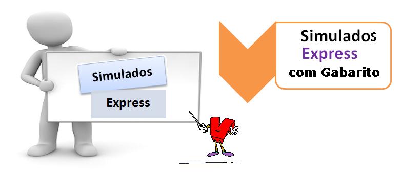 Simulados Express com Gabarito - Simulados expressos - Teste seus conhecimentos no Vestibular1