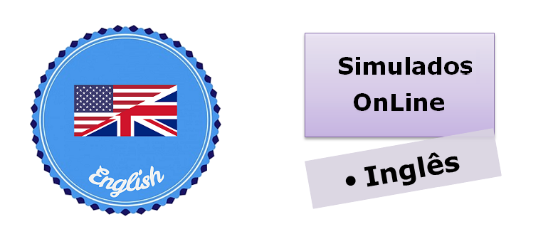 Simulados online com gabarito de Inglês enem vestibulares