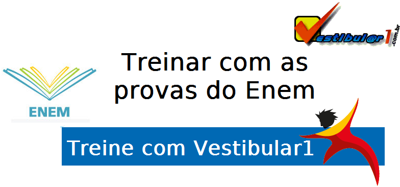 Treinar com as provas do Enem com Vestibular1