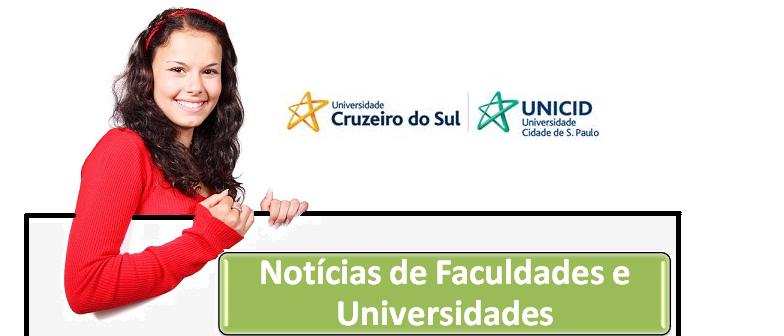 Cruzeiro do Sul e UNICID abrem inscrições Vestibular1