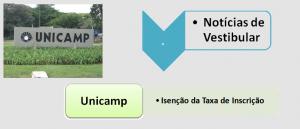 Unicamp: Isenção da Taxa de Inscrição, Vestibular1