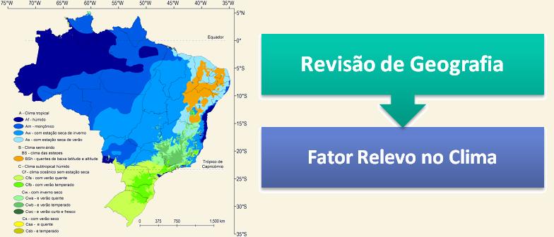 Fator Relevo no Clima Revisão de Geografia por Vestibular1