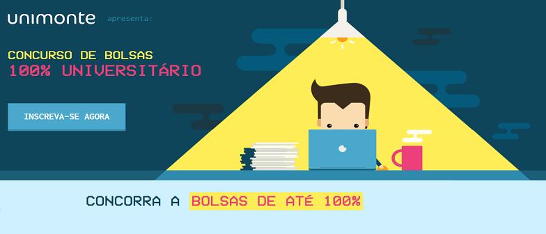 Concurso de Bolsas 100% Universitário por Vestibular1