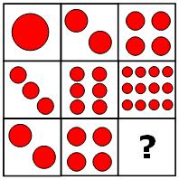 Teste de QI, preencha o espaço vazio da figura p3.