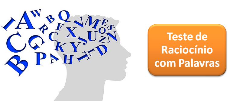 Teste de Raciocínio com Palavras 2 por Vestibular1