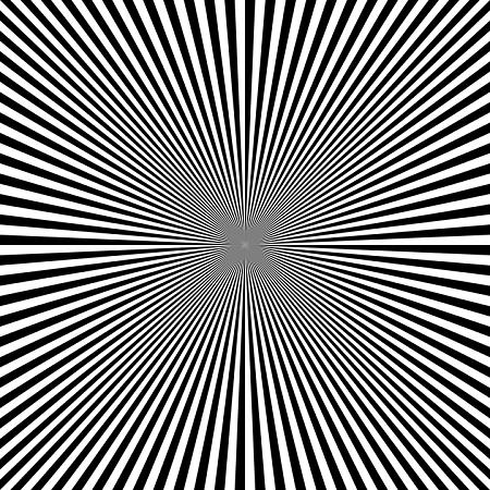 Ilusão nos feixes em movimento. Ilusão de ótica na hora do recreio