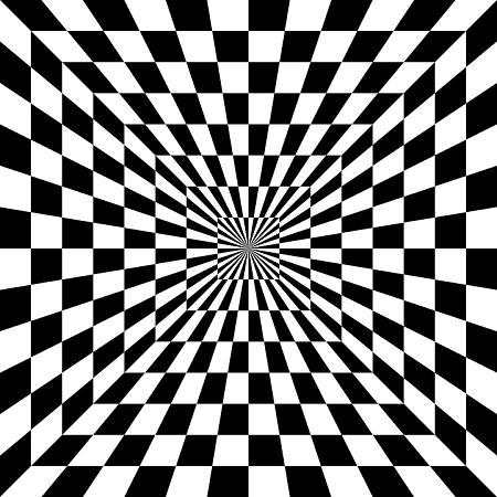 Ilusão quadrados no túnel. Vestibular1