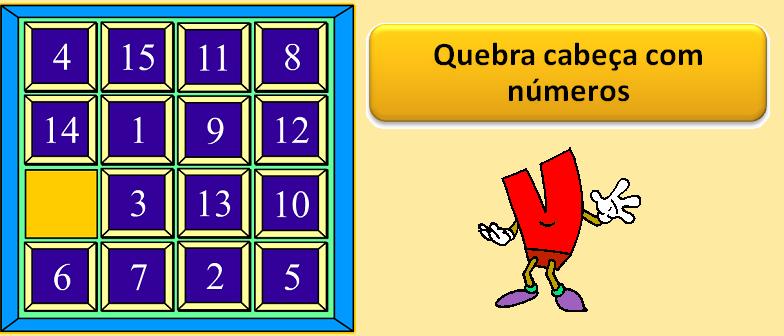 Quebra cabeça com números por Vestibular1