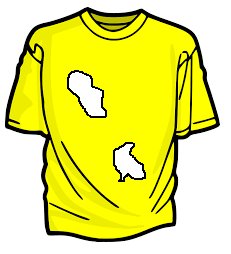 Saiba agora como está sua inteligência: quantos buracos tem na camiseta.