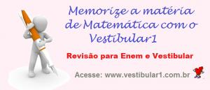 Memorize a matéria de Matemática com o Vestibular1
