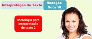 Metologia para interpretação de texto 2 por Vestibular1