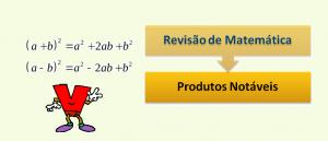 Produtos Notáveis Revisão de Matemática por Vestibular1
