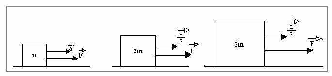 Revisão de Física, Segunda lei de Newton, força aplicada.