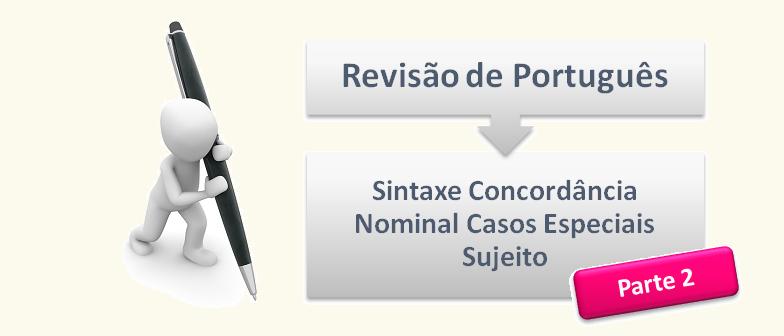 Sintaxe Concordância Nominal Casos Especiais Sujeito 2 Vestibular1
