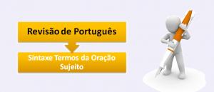 Sintaxe Termos da Oração Sujeito Português no Vestibular1