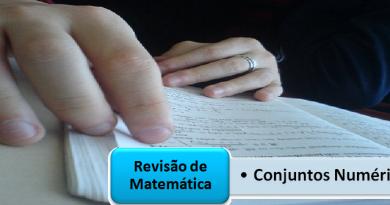 Conjuntos Numéricos Revisão de Matemática Vestibular1