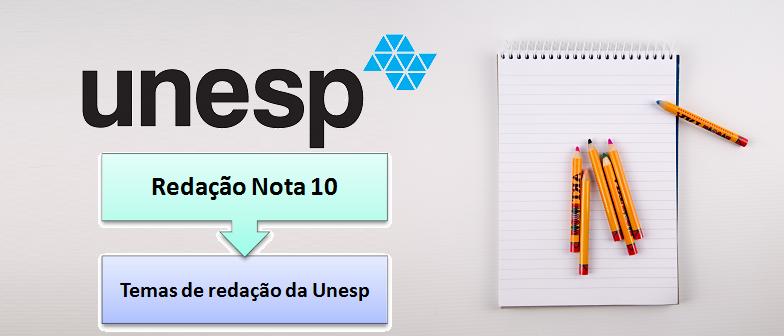 Temas de redação da Unesp vestibular1 Redação