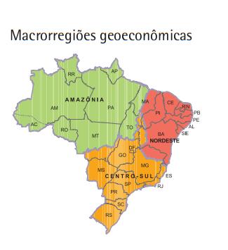Macroregiões Geoeconônicas do Brasil vestibular1