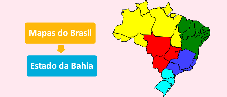 Mapa do Estado da Bahia Brasil Vestibular1