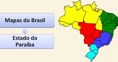 Mapa do Estado da Paraíba Brasil Vestibular1