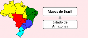 Mapa do Estado do Amazonas Brasil Vestibular1