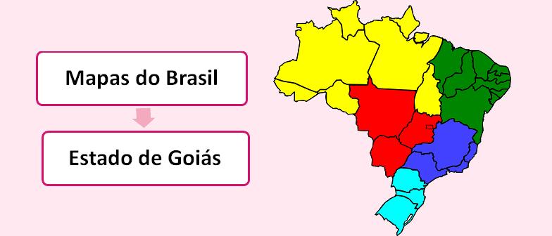 Mapa do Estado de Goiás Brasil Vestibular1