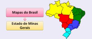Mapa do Estado de Minas Gerais Brasil Vestibular1