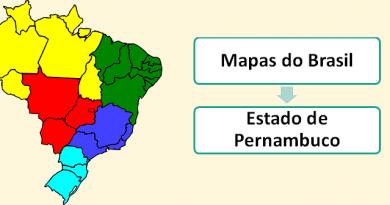 Mapa do Estado de Pernambuco Brasil Vestibular1