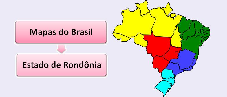 Mapa do Estado de Rondônia Brasil Vestibular1