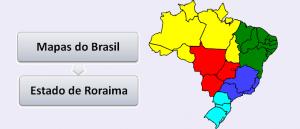 Mapa do Estado de Roraima Brasil Vestibular1