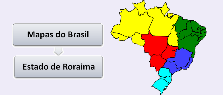 Mapa do Estado de Roraima Brasil Vestibular1