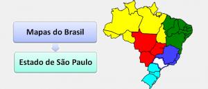 Mapa do Estado de São Paulo Brasil Vestibular1
