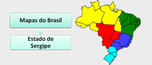 Mapa do Estado de Sergipe Brasil Vestibular1