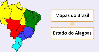 Mapa do Estado de Alagoas Brasil Vestibular1