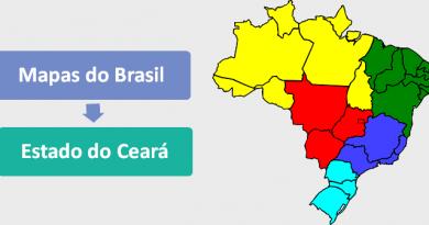 Mapa do Estado do Ceará Brasil Vestibular1