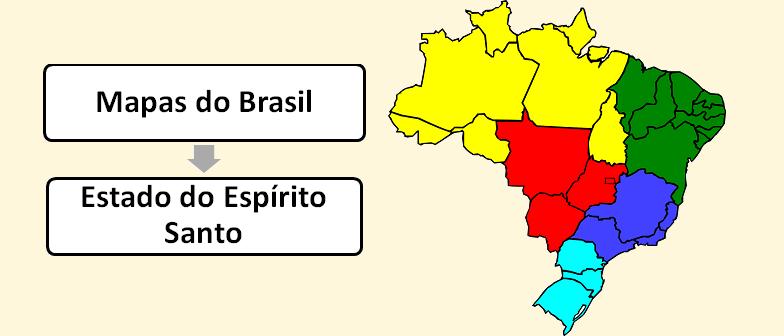 Mapa do Estado do Espírito Santo Brasil Vestibular1